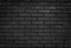 Textura da parede de tijolo e fundo pretos velhos do close-up imagens de stock royalty free