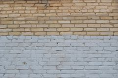 Textura da parede de tijolo de Grunge Foto de Stock