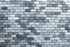 Textura da parede de tijolo no tom preto e branco Foto de Stock Royalty Free
