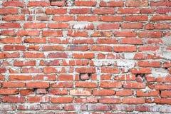 Textura da parede de tijolo vermelho velha Fotos de Stock