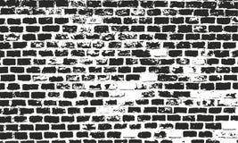 textura da parede de tijolo Vetor do Grunge, fundo urbano Superfície afligida para o projeto retro Foto de Stock Royalty Free