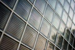 Textura da parede do bloco de vidros Foto de Stock