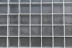 Textura da parede do bloco de vidros Fotos de Stock