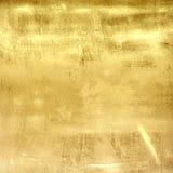 Textura da parede do grunge do metal do ouro Fotografia de Stock