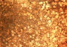 Textura da parede do ouro velho fotografia de stock