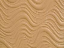Textura da parede do relevo de bas do cimento branco de teste padrão de onda Foto de Stock Royalty Free