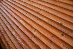 Textura da parede feita dos logs Imagem de Stock