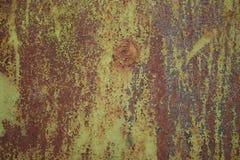 Textura da parede pintada oxidada velha Fotos de Stock Royalty Free