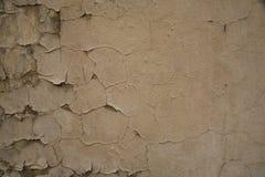 Textura da parede pintada rachada velha Fotografia de Stock Royalty Free