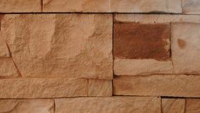 Textura da parede da terracota do tijolo closeup filme