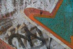 Textura da parede velha com grafittis coloridos Imagens de Stock Royalty Free