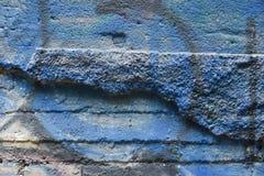 Textura da parede velha do estuque gasto e de elementos dos grafittis foto de stock royalty free