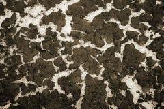 A textura da parte inferior da areia do reservatório e da acumulação de sedimentos na parte superior Fundo toning imagem de stock