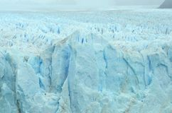 Textura da parte superior e do lado de Perito Moreno Glacier fotografia de stock