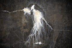 Textura da pedra calcária da água escapada Imagem de Stock