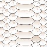 Textura da pele de serpente Branco sem emenda do teste padrão ilustração stock