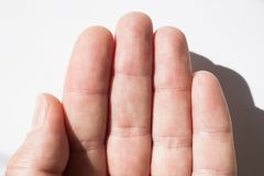 Textura da pele do dedo, close-up da impressão digital fotos de stock royalty free