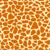 Textura da pele do girafa, teste padrão sem emenda, repetindo os pontos alaranjados e amarelos, fundo, safari, jardim zoológico,  Imagens de Stock Royalty Free