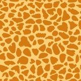 Textura da pele do girafa, teste padrão sem emenda, repetindo os pontos alaranjados e amarelos, fundo, safari, jardim zoológico,  ilustração stock