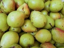 Textura da pera: lotes das peras recolhidas em uma bacia foto de stock royalty free