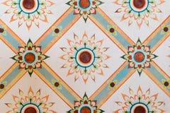 Textura da pintura do teste padrão ao estilo do fundo em Kantharalak Fotografia de Stock Royalty Free