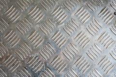 Textura da placa de metal de prata Fotos de Stock Royalty Free