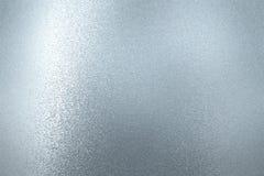 Textura da reflexão na parede azul áspera do metal da pintura, fundo abstrato ilustração stock