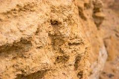 Textura da rocha amarela Foto de Stock Royalty Free