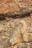 Textura da rocha de Brown Foto de Stock Royalty Free