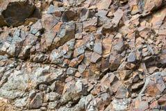 Textura da rocha e fundo da superfície Imagens de Stock