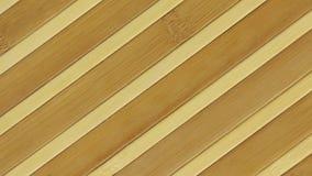 Textura da rotação e do zumbido de uma esteira de bambu video estoque