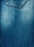 Textura da sarja de Nimes azul com um gasto Fotografia de Stock Royalty Free