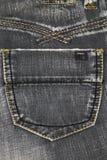 Textura da sarja de Nimes, bolso cinzento da sarja de Nimes imagem de stock