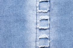 Textura da sarja de Nimes como o fundo Fotos de Stock Royalty Free