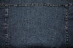 Textura da sarja de Nimes costurada imagens de stock