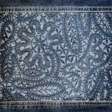 Textura da sarja de Nimes do fundo com teste padrão do laço foto de stock royalty free