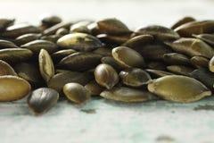 Textura da semente de abóbora Fotos de Stock Royalty Free