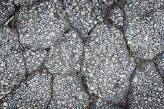 Textura da superfície da estrada asfaltada da quebra Foto de Stock