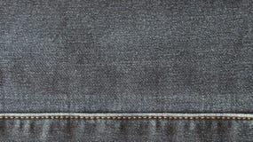 Textura da superfície do material da sarja de Nimes Imagens de Stock
