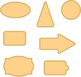 Textura da tela com etiquetas ilustração do vetor