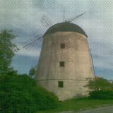 Textura da tela com moinho de vento Fotografia de Stock