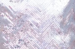 Textura da tela com vislumbrar as lantejoulas de prata imagem de stock