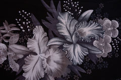 A textura da tela da cópia listrou a flor para o fundo Foto de Stock Royalty Free