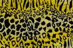 A textura da tela da cópia listrou o leopardo para o fundo Foto de Stock