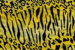A textura da tela da cópia listrou o leopardo para o fundo Fotos de Stock Royalty Free