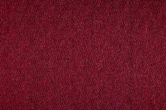 Textura da tela da cor vermelha do close up fotos de stock royalty free