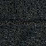 Textura da tela da sarja de Nimes - Gray With Seams escuro Imagem de Stock