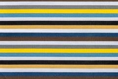 Textura da tela de listras coloridas Fotos de Stock