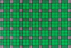 Textura da tela de matéria têxtil verde da manta de tartã Imagem de Stock Royalty Free