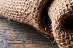 Textura da tela de serapilheira Foto de Stock Royalty Free